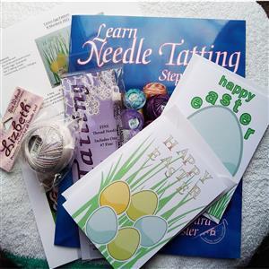 Tatting and Design Easter Needle Tatting Greetings Cards Kit