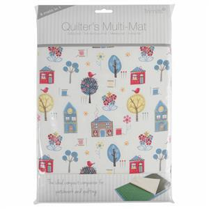 Quilter's Ironing & Cutting Multi-Mat Foral A4 30 x 24cm