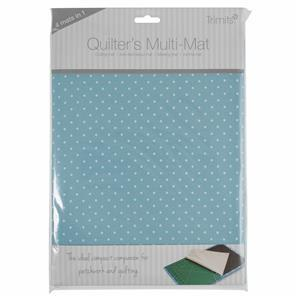 Quilter's Ironing & Cutting Multi-Mat Blue Spot A4 30 x 24cm