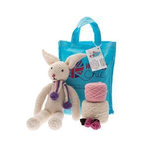 Woolly Chic White Bunny Rabbit Knitting Kit