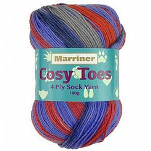 Marriner Parrot Cosy Toes 4 Ply Yarn 100g