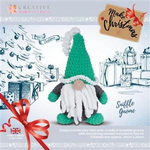 Knitty Critters Green Sniffles Gnome Kit