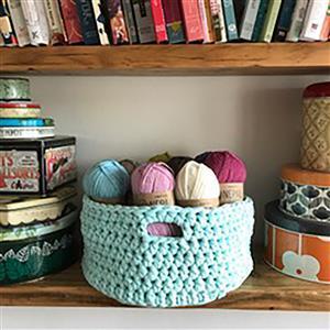 Adventures in Crafting Mint Crochet Basket Kit