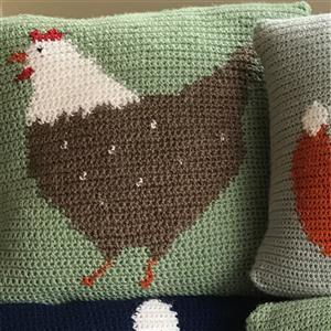 Adventures in Crafting Chicken Tapestry Crochet Cushion Kit