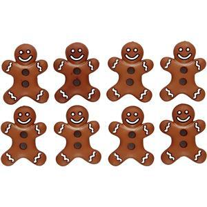 Gingerbread Man Button Pack of 8