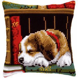 Sleeping Dog Needlepoint Cushion Kit