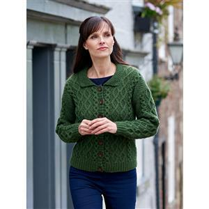 WYS Forest Follifoot Collared Cabled Cardigan Yarn Pack (28-46in)