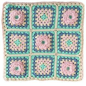 The Crafty Co Pale Pink Rose Crochet Cushion Kit