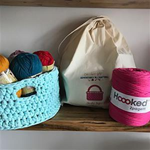 Adventures in Crafting Pink Crochet Basket Kit