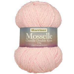 Marriner Pink Floss Mosselle Chenille Style DK Yarn 100g