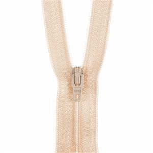 Cream Closed End Polyester Zip 20cm