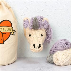 Sincerely Louise Mini Unicorn Head Knitting Kit