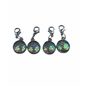 Twink Knits Mermaid Scale Stitch Markers - set of four