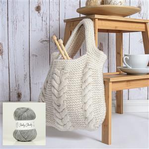 Wool Couture Natural Grey Cable Bag Kit