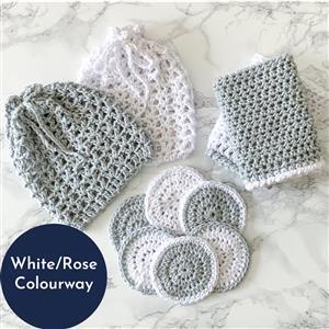 The Crafty Co. White/Rose Wash Set Kit