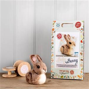 The Crafty Kit Company Baby Bunny Needle Felting Kit
