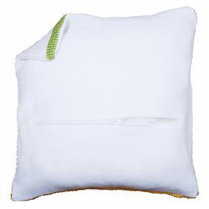 Cushion Back with Pre inserted Zip: White: 45x45cm (18x18in)