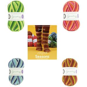Winwick Mum Seasons Sock kit: Pattern Book and 4 x 100g balls of Seasons Yarn. SAVE 10%