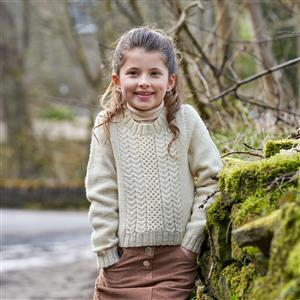WYS Eavestone Child's Cable Jumper Yarn Pack (age 3-10)