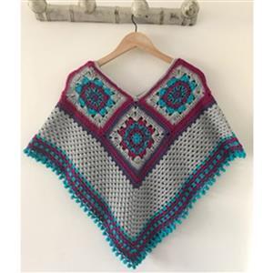 Adventures in Crafting Mermaid Summer Nights Crochet Poncho  Kit