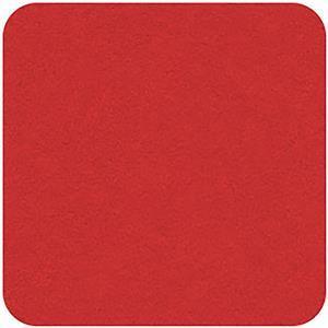 Felt Square in Red 22.8x22.8cm (9x9