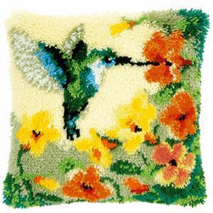 Hummingbird Latch Hook Cushion Kit