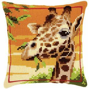 Giraffe Needlepoint Cushion Kit