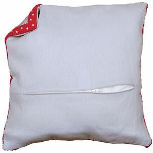Cushion Back with Pre inserted Zip: Grey: 45x45cm (18x18in)