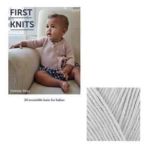 First Knits Book by Debbie Bliss with 100g of Bamboo&Cotton Yarn  FREE
