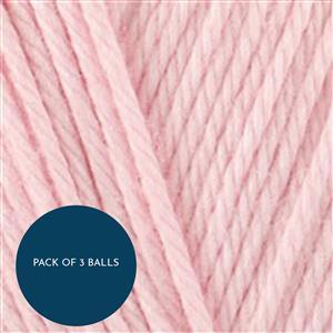 Stylecraft Pale Pink Naturals Bamboo+Cotton DK 100g: Pack of 3 Balls