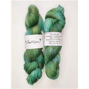 Woolly Chic Hand Dyed Willow HeartSpun hand dyed 4ply Yarn 100g