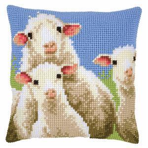 Curious Sheep Needlepoint Cushion Kit