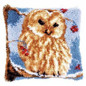 Owl Latch Hook Cushion Kit