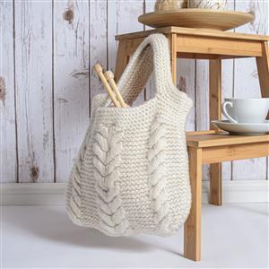 Wool Couture Natural Cream Cable Bag Kit