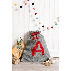 Wool Couture Grey & Red Christmas Santa Sack Knitting Kit