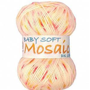 Marriner Peach Melba Baby Soft Mosaic DK Yarn 100g