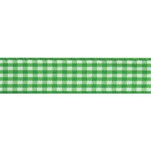 Lime & White Gingham Ribbon 4m x 15mm