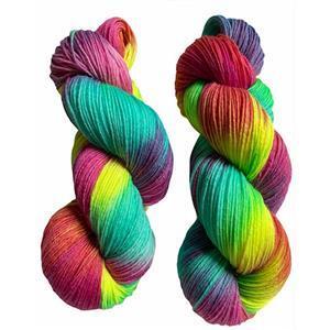 Twink Knits Rainbow Brights 4 ply yarn 100g hank