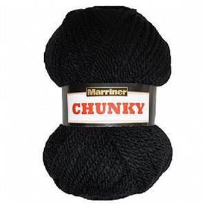 Marriner Black  Chunky Yarn 100g