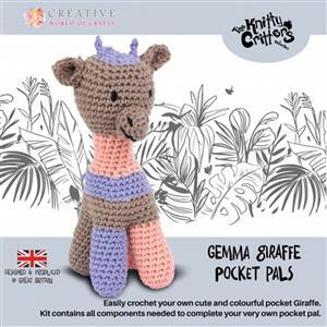 Knitty Critters Pocket Pals Gemma Giraffe Kit