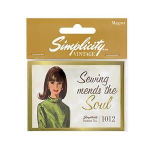 Simplicity Vintage Magnet (Sewing Mends the Soul) 4534/4402 Pattern
