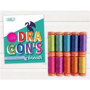 Aurifil Tula Pink Dragon's Breath 10 x 50wt Spools.