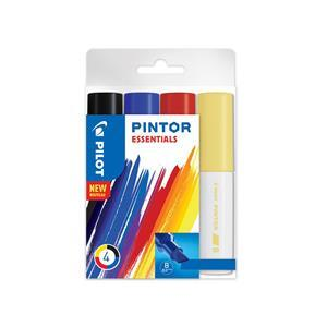 Broad Point Wallet of 4 Essential Colours Fabric Pens