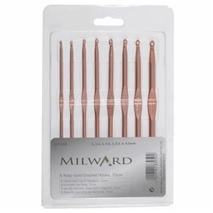 Milward Rose Gold Crochet Hook - Set of 8