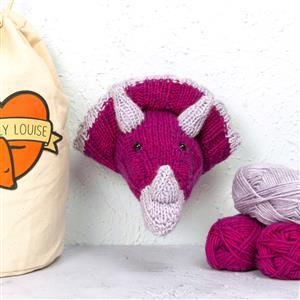 Sincerely Louise Berry Mini Triceratops  Head Knitting Kit