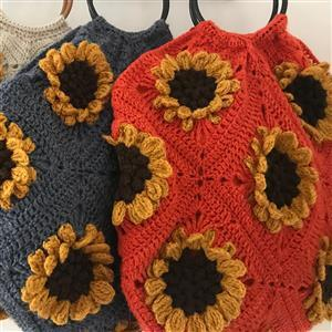 Adventures in Crafting Bonfire Field of Sunflowers Granny Square Bag Kit
