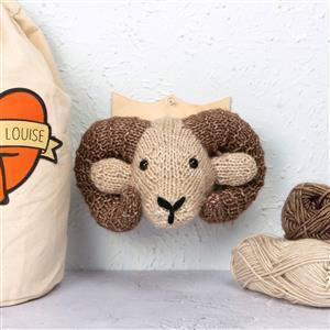 Sincerely Louise Mini Ram Head Knitting Kit
