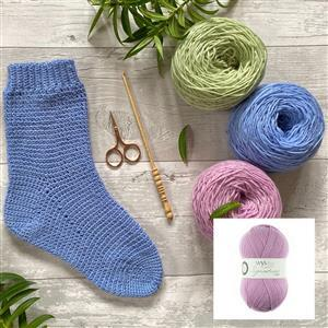 Anna Nikipirowicz Sweet Pea Crochet Sock Kit