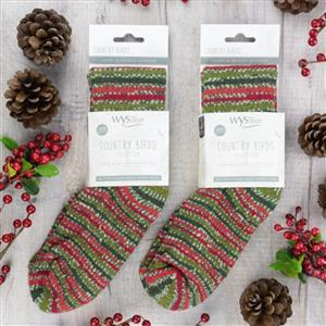 YARN LANE LOVES: WYS Holly Berry Bluefaced Leicester Luxury Socks: size 6-8
