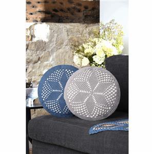 Anchor Carefree Moments Grey Crochet Cushion Kit